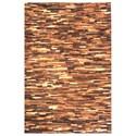 Uttermost Rugs Tiago Medium Brown 8 x 10 Rug - Item Number: 71132-8