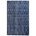 Uttermost Rugs Fressia Blue 5 X 8 Rug - Item Number: 71147-5