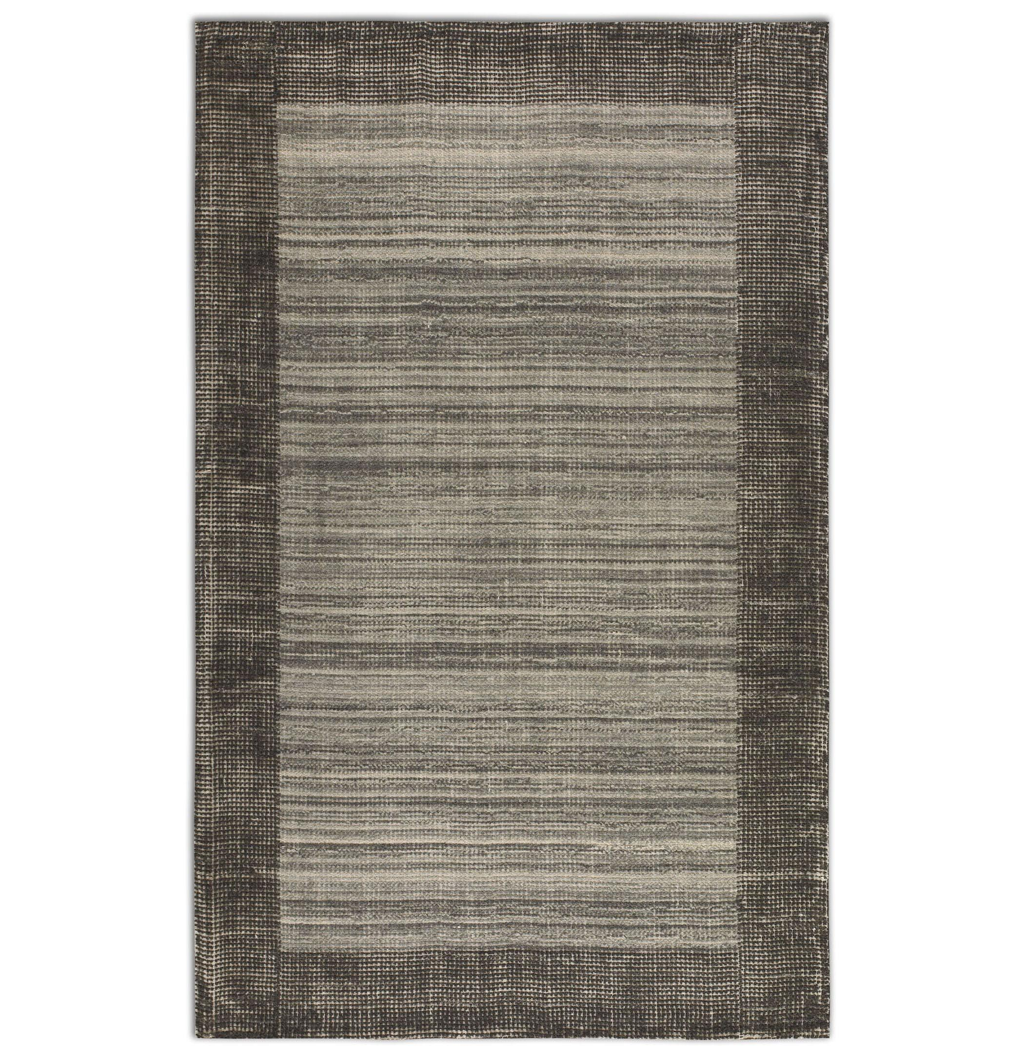 Uttermost Rugs Zell 5 X 8 Rug - Gray - Item Number: 73049-5