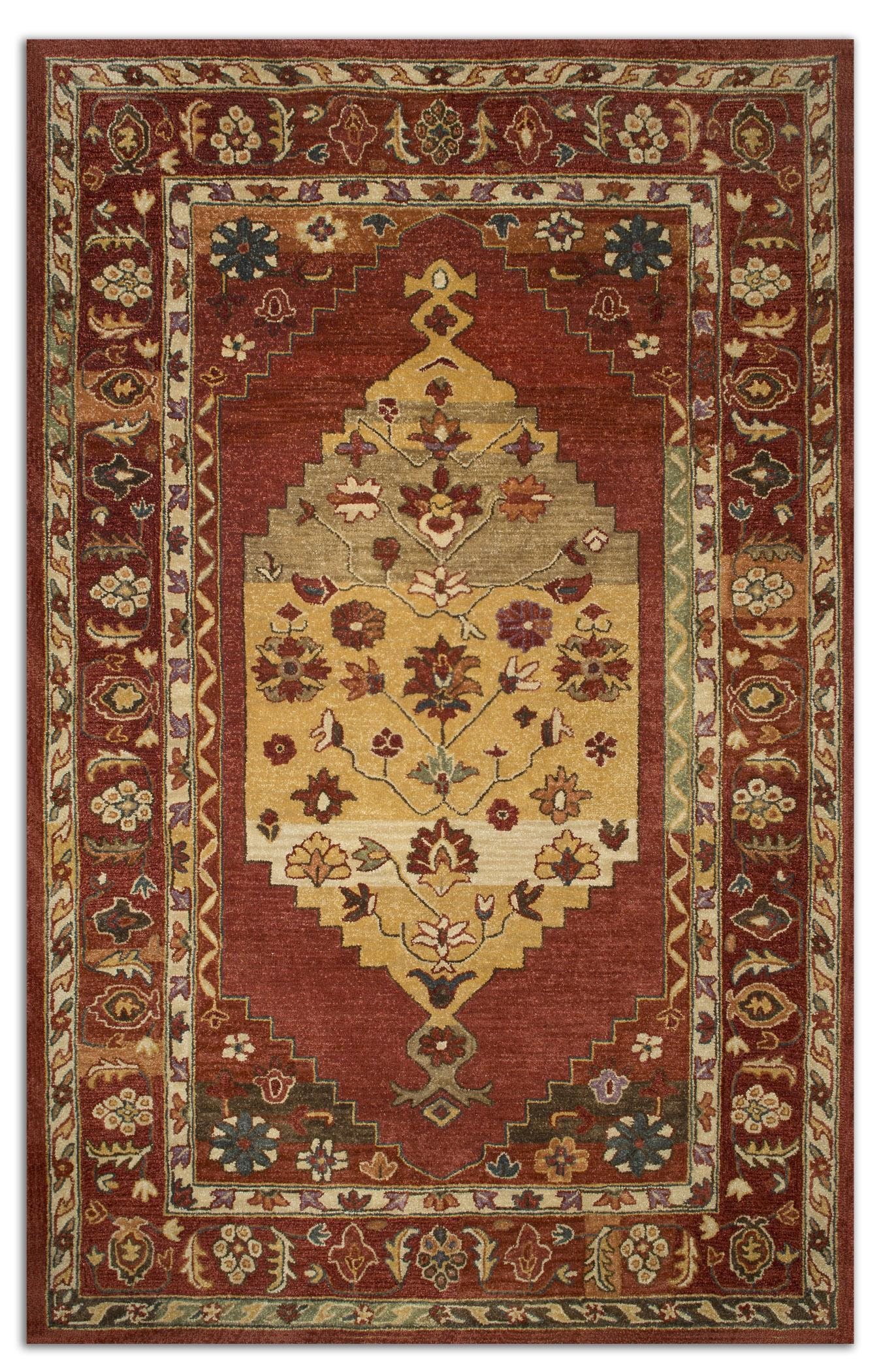 Uttermost Rugs Estelle 8 X 10 Rug - Red - Item Number: 73056-8