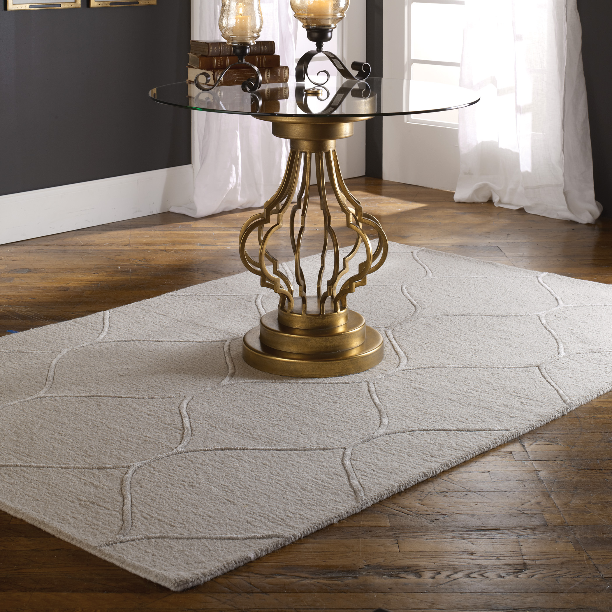 Uttermost Rugs Larache 5 X 8 Rug - Light Beige  - Item Number: 73062-5