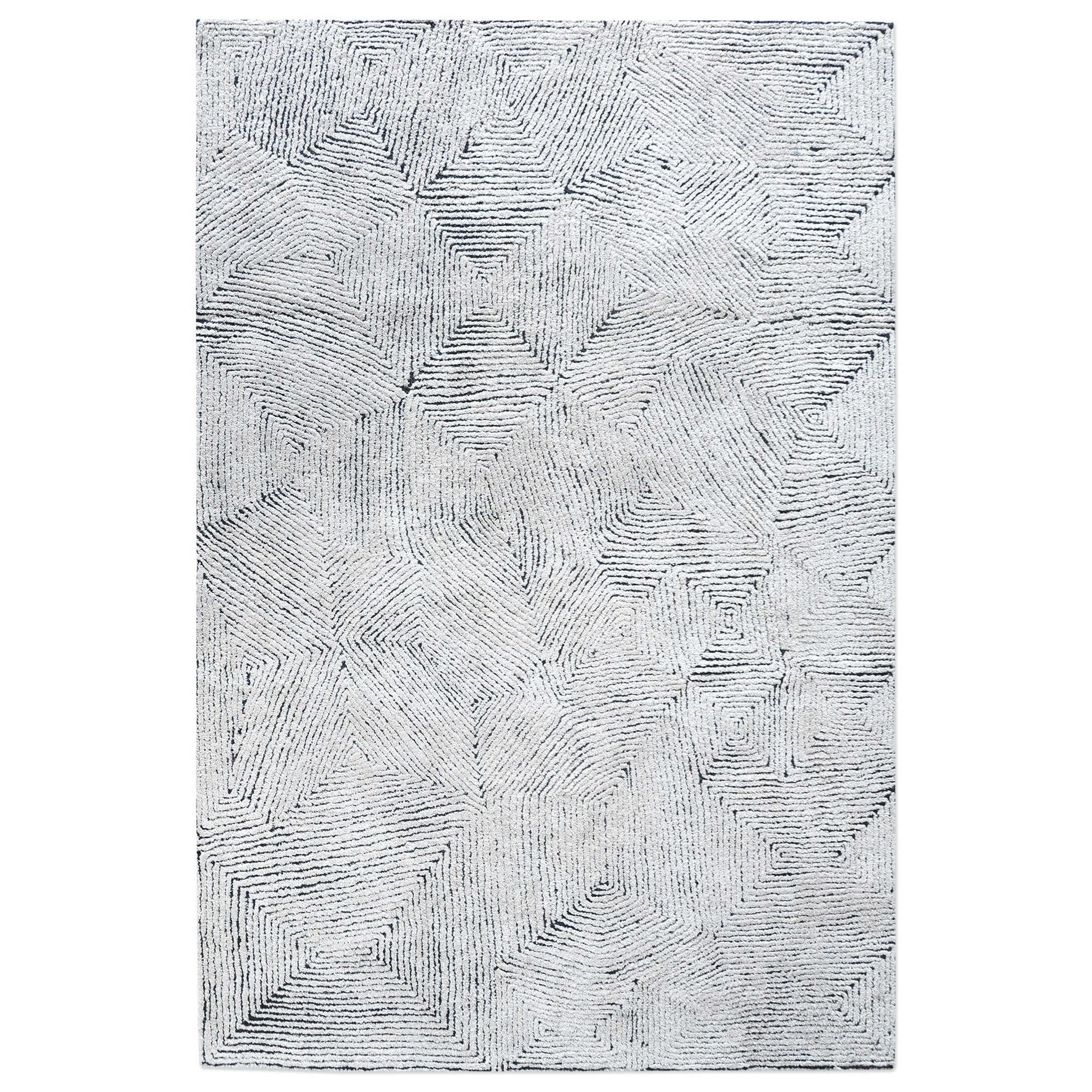 Rugs Maze Blue 5 x 8 Rug by Uttermost at Adcock Furniture