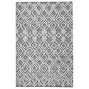 Uttermost Rugs Sieano Gray-Ivory 5 x 8 Rug - Item Number: 73070-5