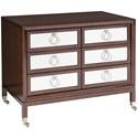 Vanguard Furniture Accent and Entertainment Chests and Tables Transitional Alister Accent Chest with Supreme Walnut Finish and Casters