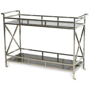 Victor Buffet with 2 Black Glass Shelves