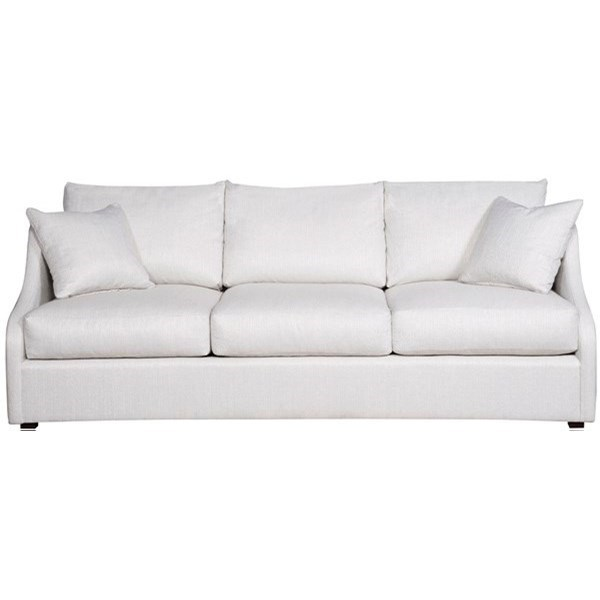 Cora Sloped Arm Sofa by Vanguard Furniture at Baer's Furniture