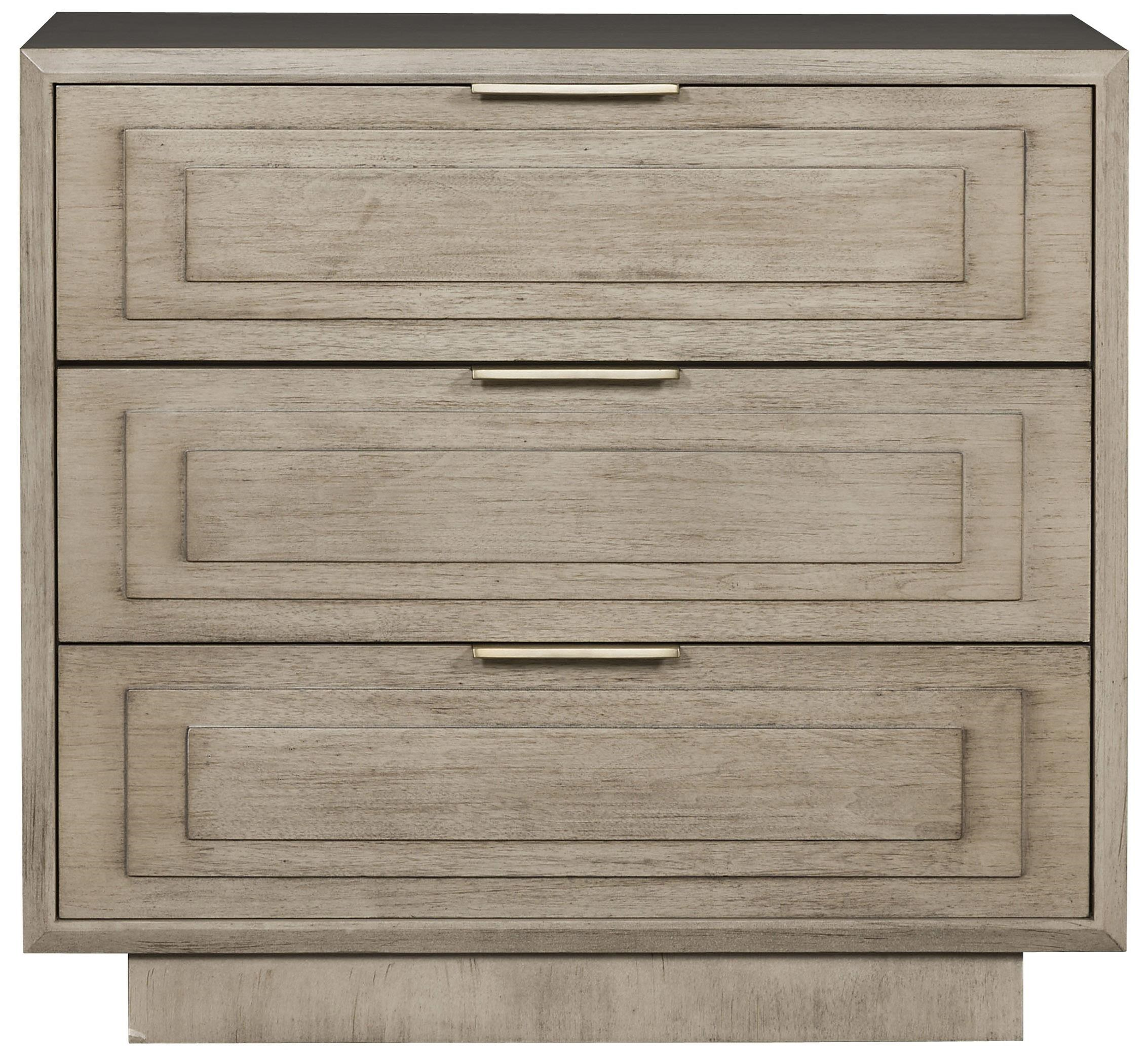 Bowers - Michael Weiss 3-Drawer Nightstand by Vanguard Furniture at Baer's Furniture