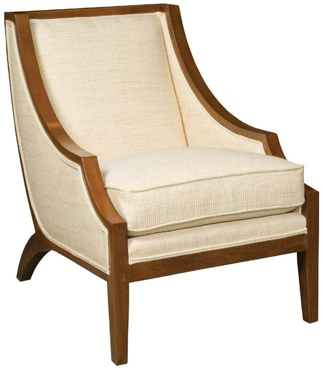 Pompey Transitional Exposed Wood Chair