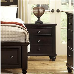 Vaughan Bassett Ellington Night Stand - 2 Drawers w/ Drawer Power Pack
