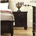 Vaughan Bassett Ellington 2-Drawer Night Stand w/ Drawer Power Pack & Electronics Storage