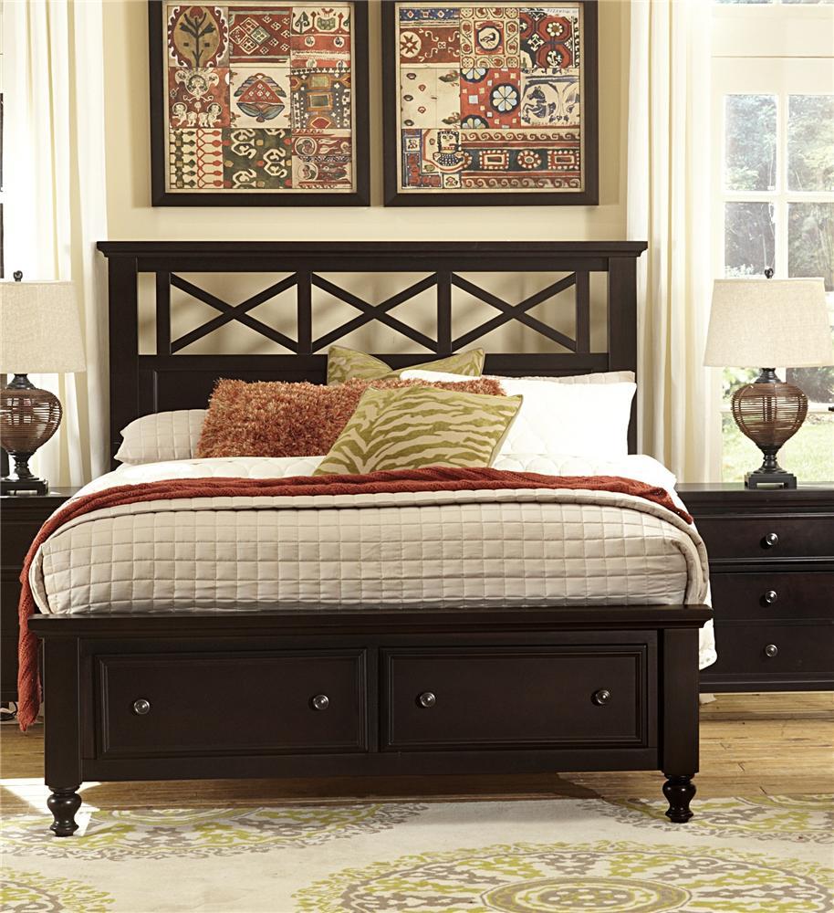 Vaughan Bassett Ellington Queen Garden Storage Bed - Item Number: 620-558+050B+502+555T