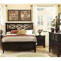 Vaughan Bassett Ellington Queen Garden Storage Bed with 2 Footboard Drawers