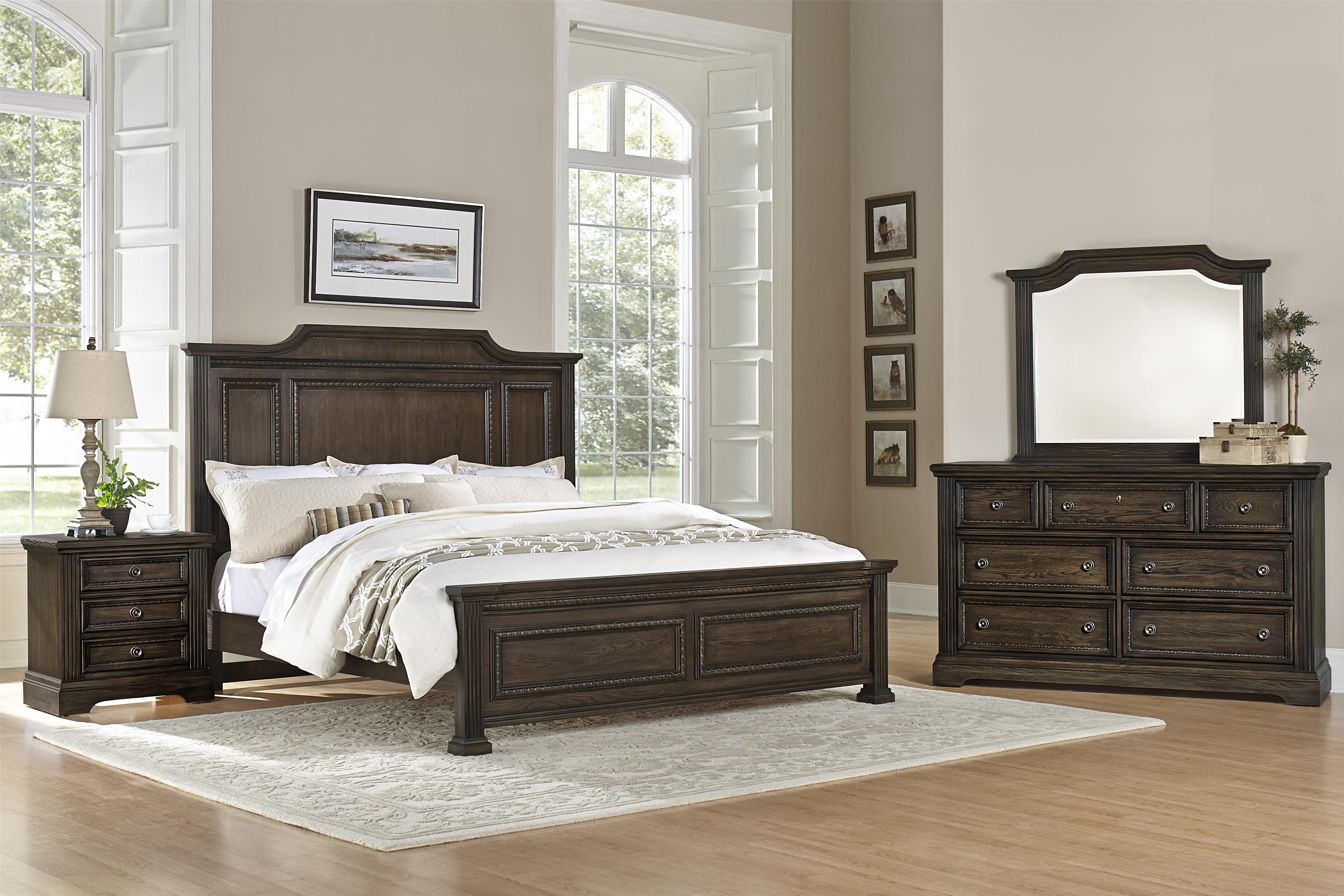Vaughan Bassett Affinity Queen Bedroom Group - Item Number: 560 Q Bedroom Group 1