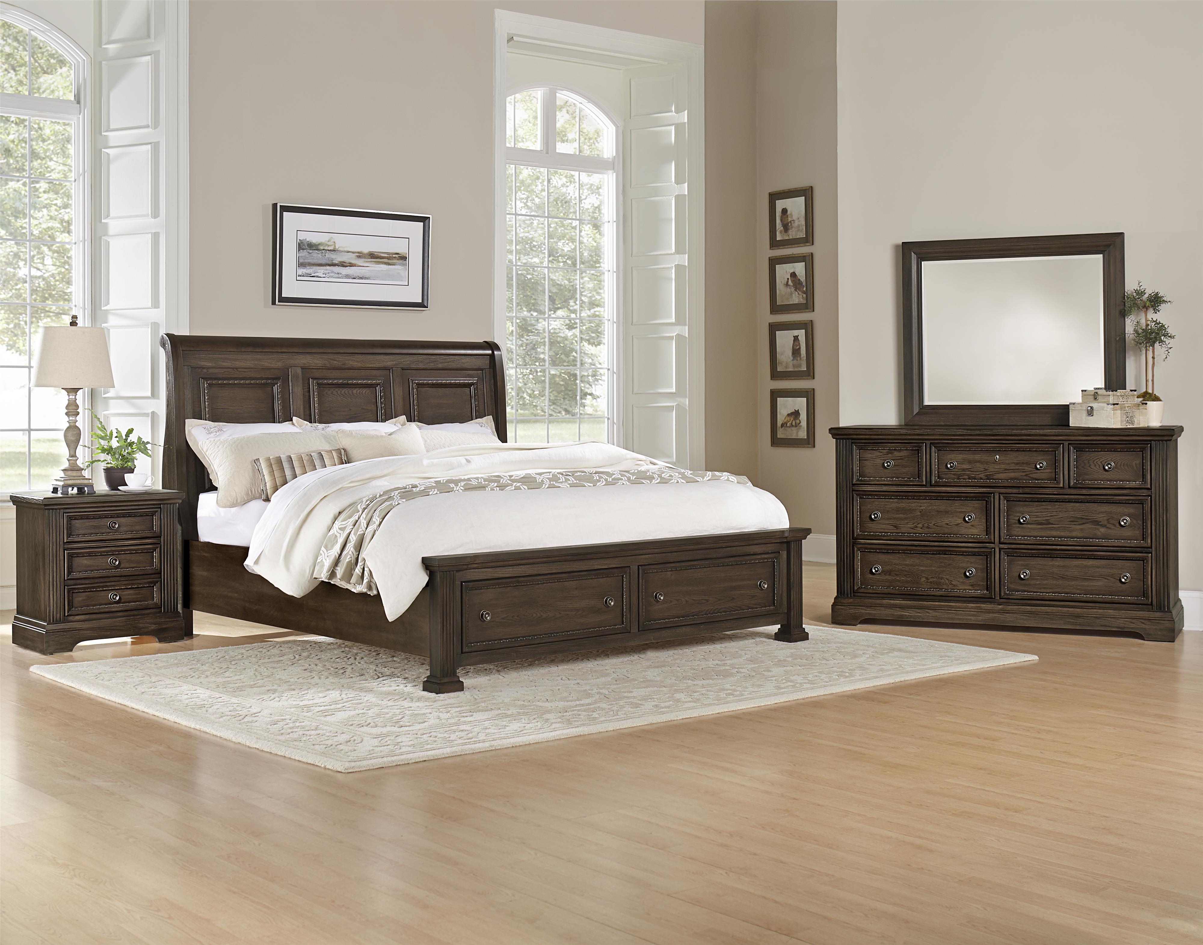 Vaughan Bassett Affinity Queen Bedroom Group - Item Number: 560 Q Bedroom Group 4