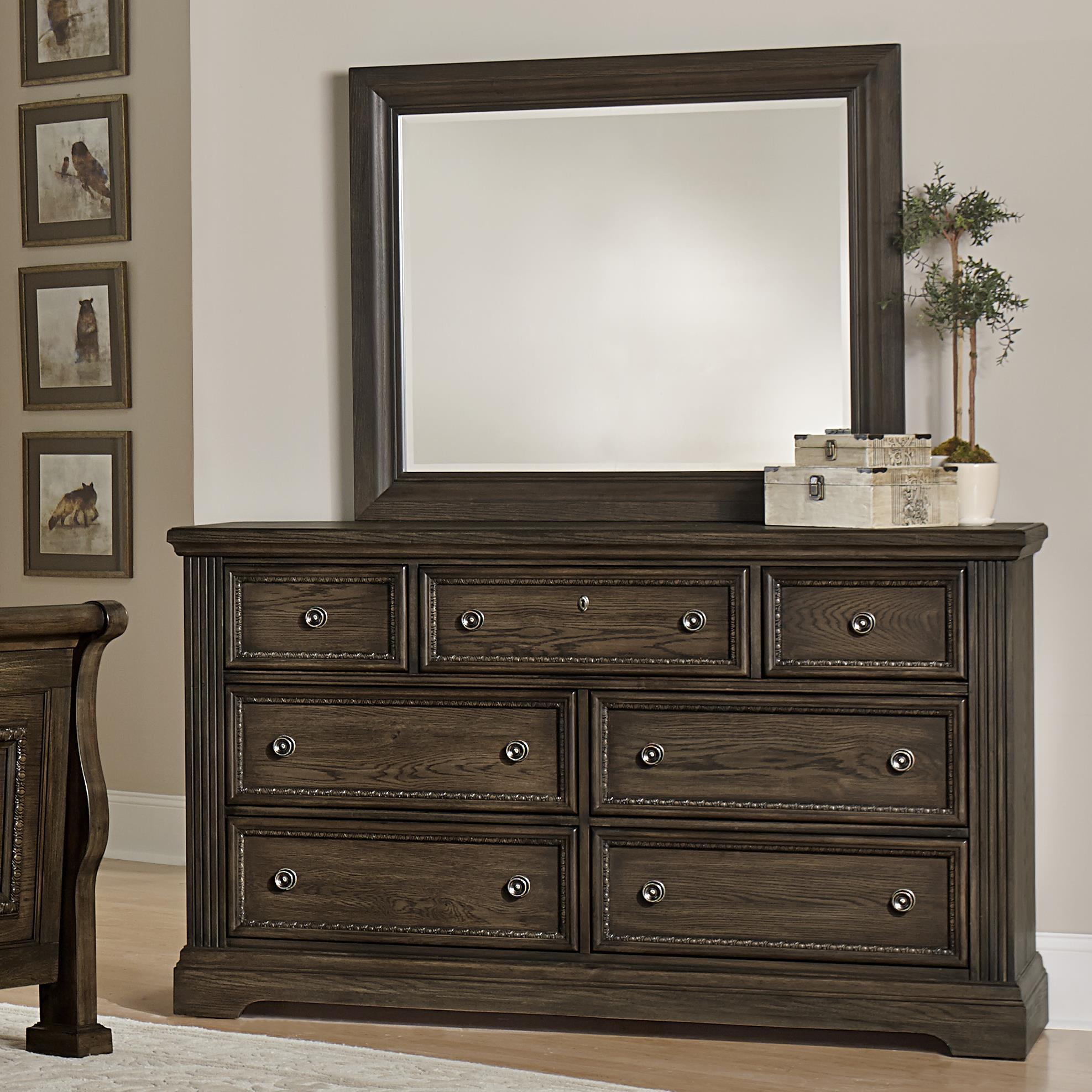 Vaughan Bassett Affinity Dresser & Landscape Mirror - Item Number: 560-002+446