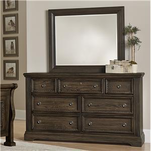 Vaughan Bassett Affinity Dresser & Landscape Mirror