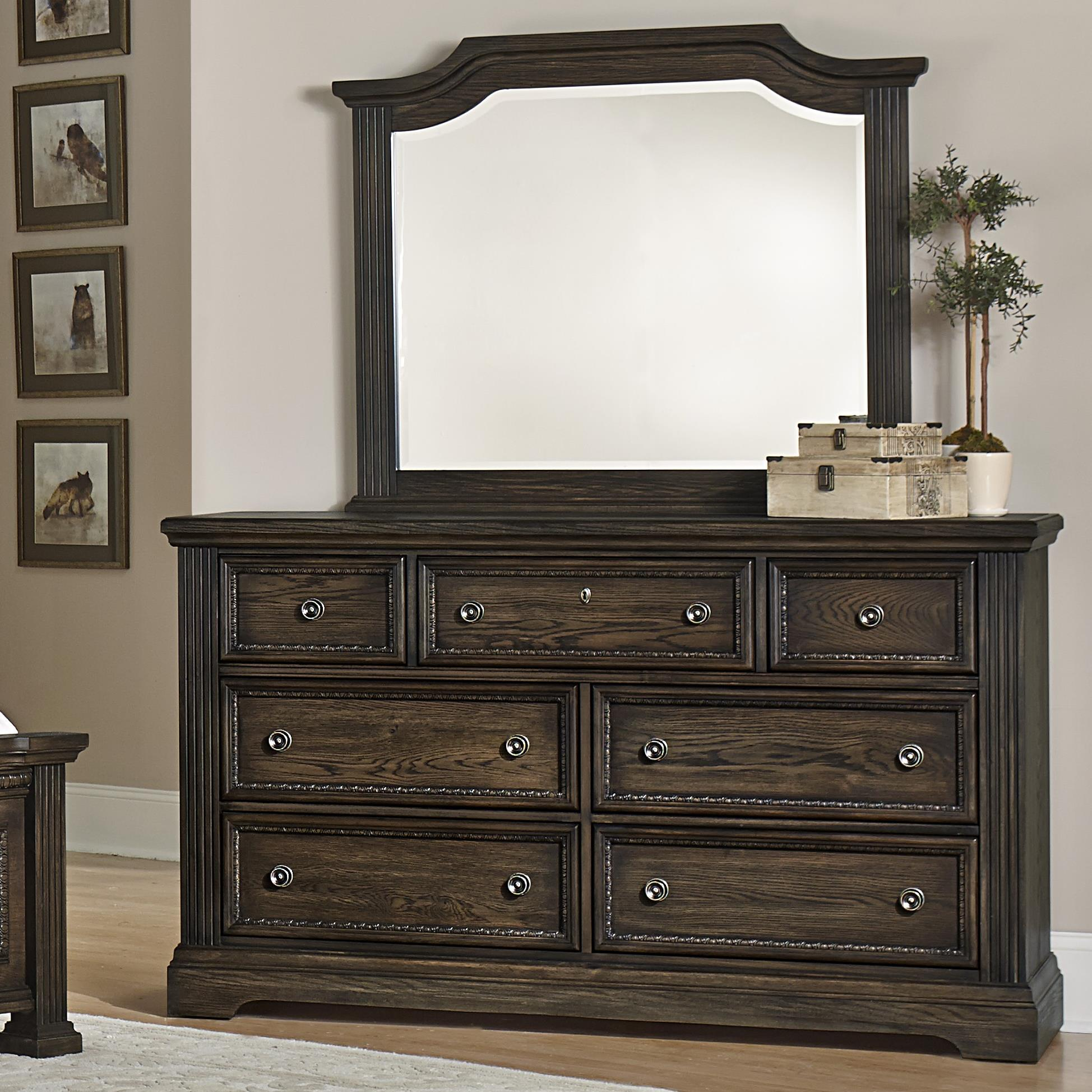 Vaughan Bassett Affinity Dresser & Arch Mirror - Item Number: 560-002+447