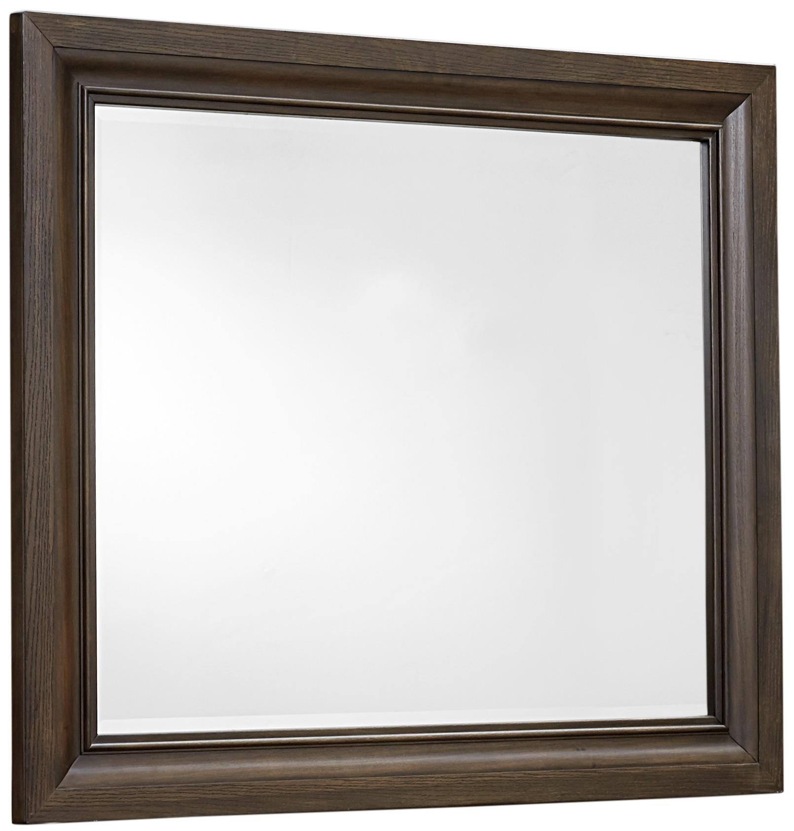 Vaughan Bassett Affinity Landscape Mirror - Beveled glass - Item Number: 560-446