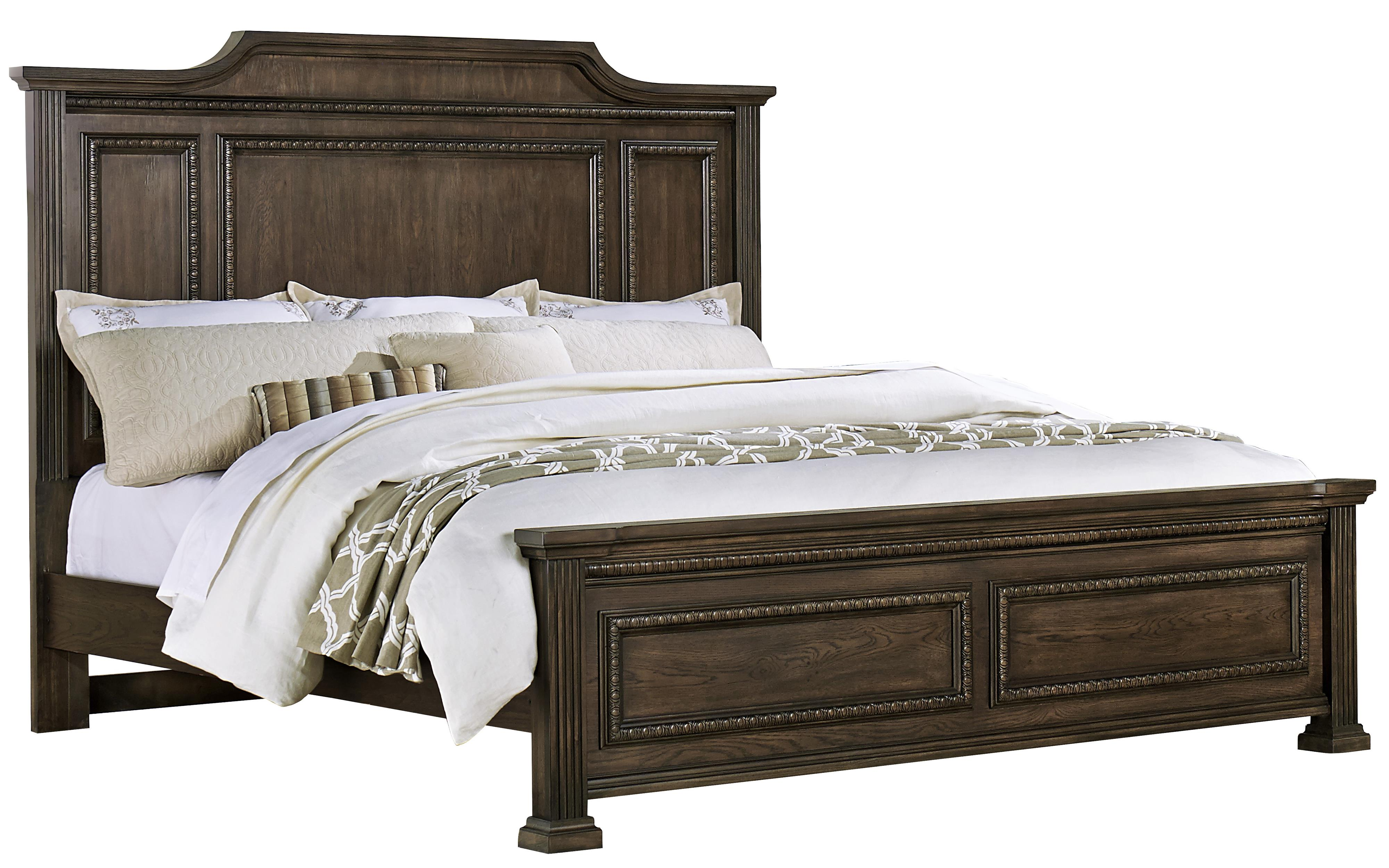 Vaughan Bassett Affinity Queen Mansion Bed - Item Number: 560-558+855+922