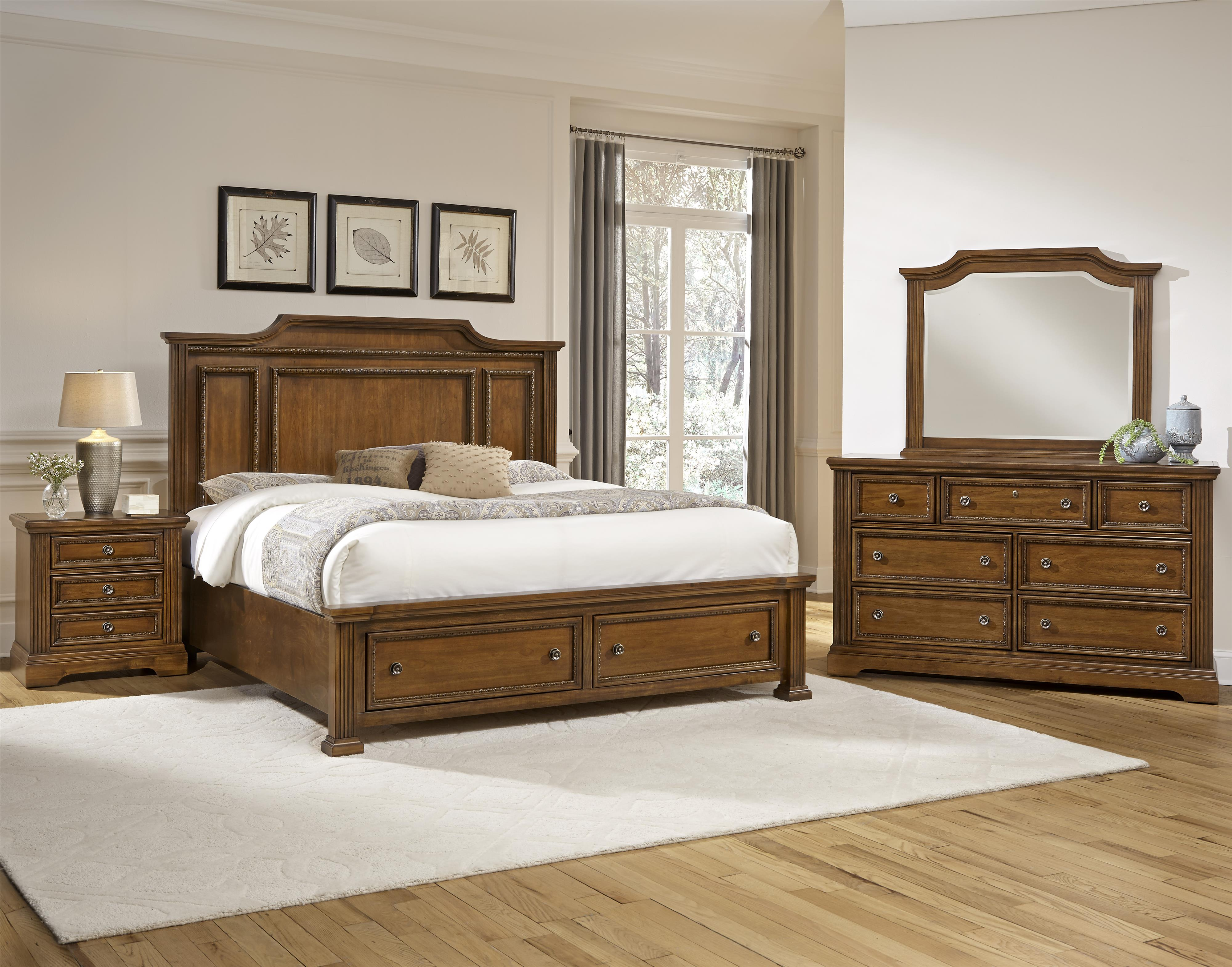 Vaughan Bassett Affinity Queen Bedroom Group - Item Number: 562 Q Bedroom Group 3