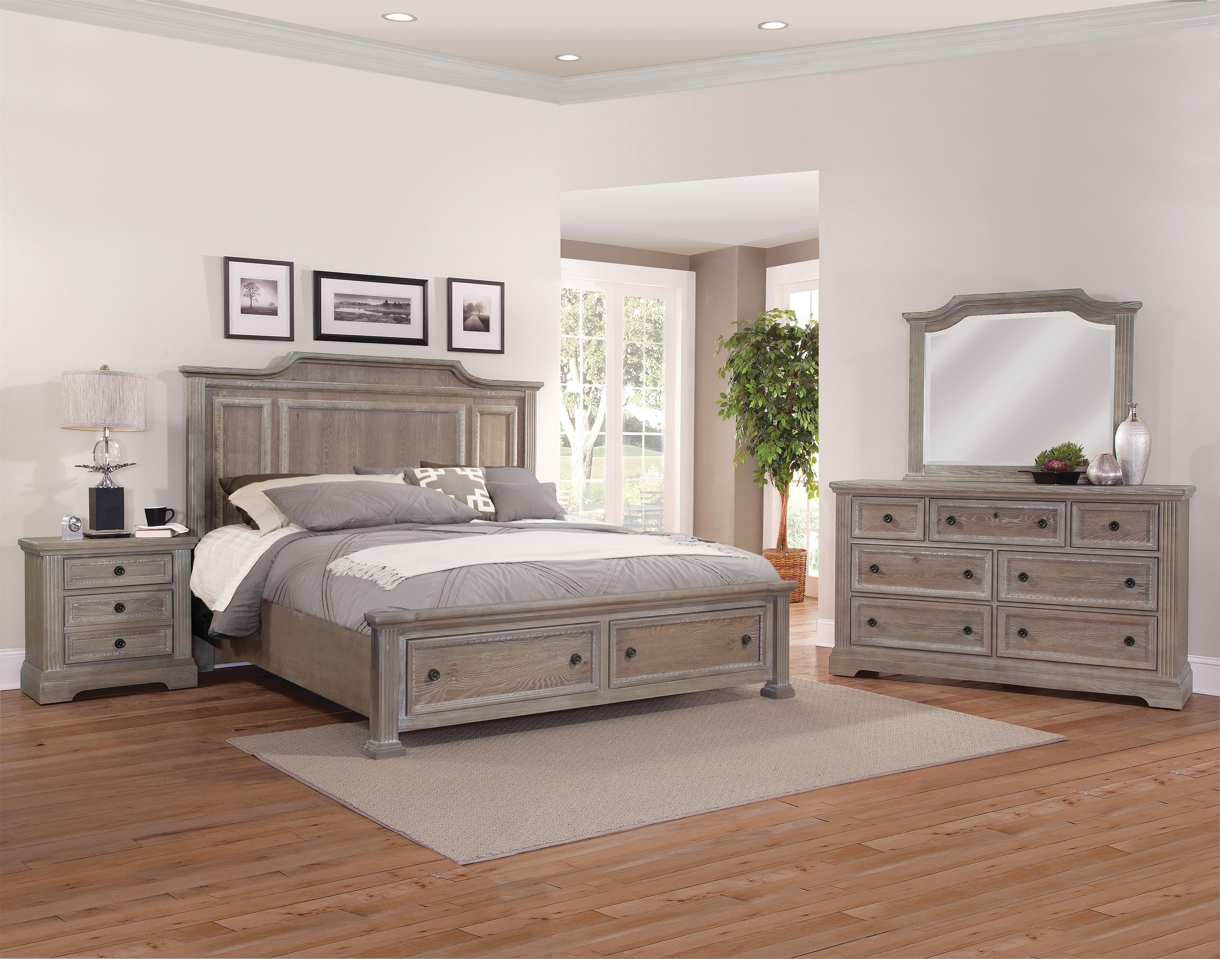 Vaughan Bassett Affinity King Bedroom Group - Item Number: 564 K Bedroom Group 3