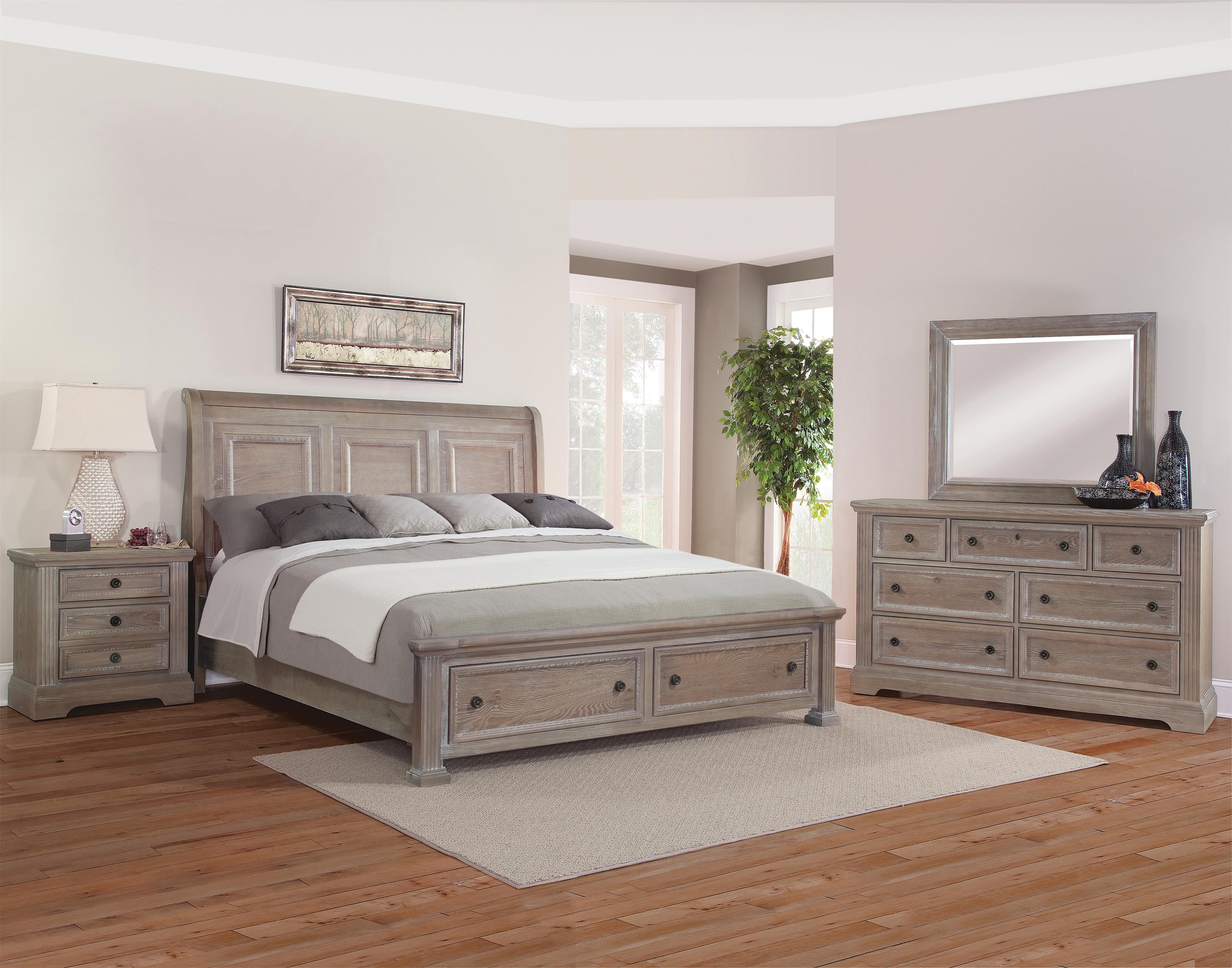 Vaughan Bassett Affinity Queen Bedroom Group - Item Number: 564 Q Bedroom Group 4