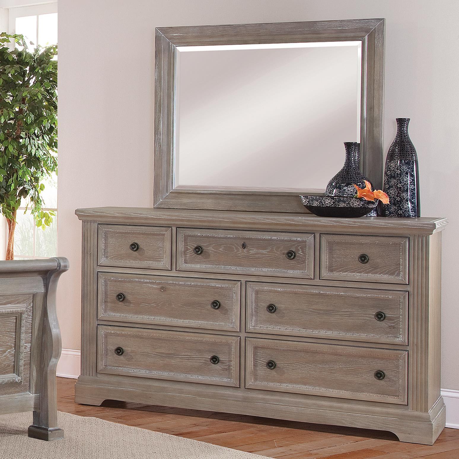 Vaughan Bassett Affinity Dresser & Landscape Mirror - Item Number: 564-002+446