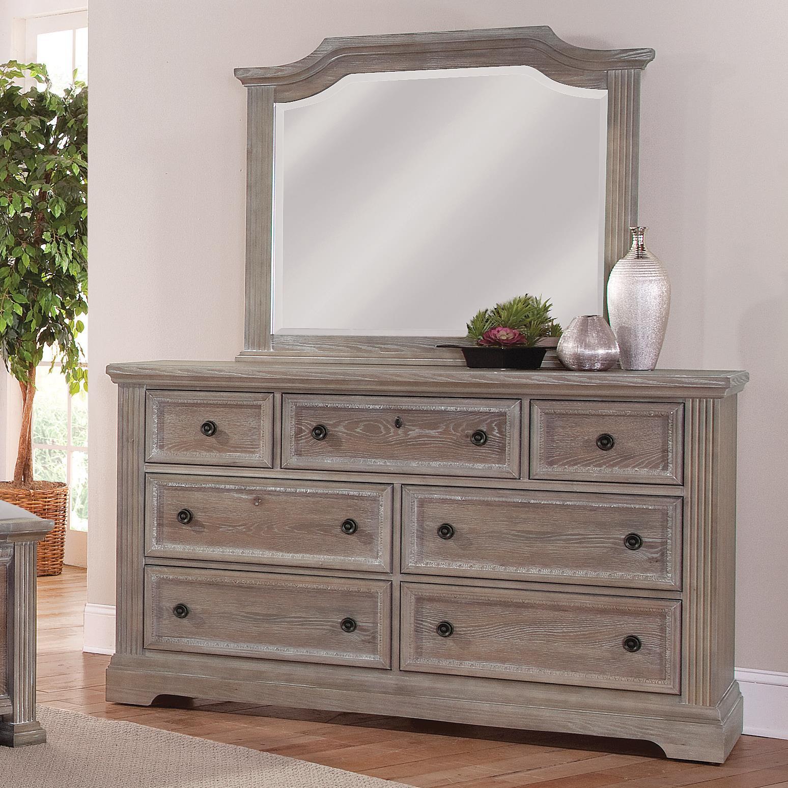 Vaughan Bassett Affinity Dresser & Arch Mirror - Item Number: 564-002+447