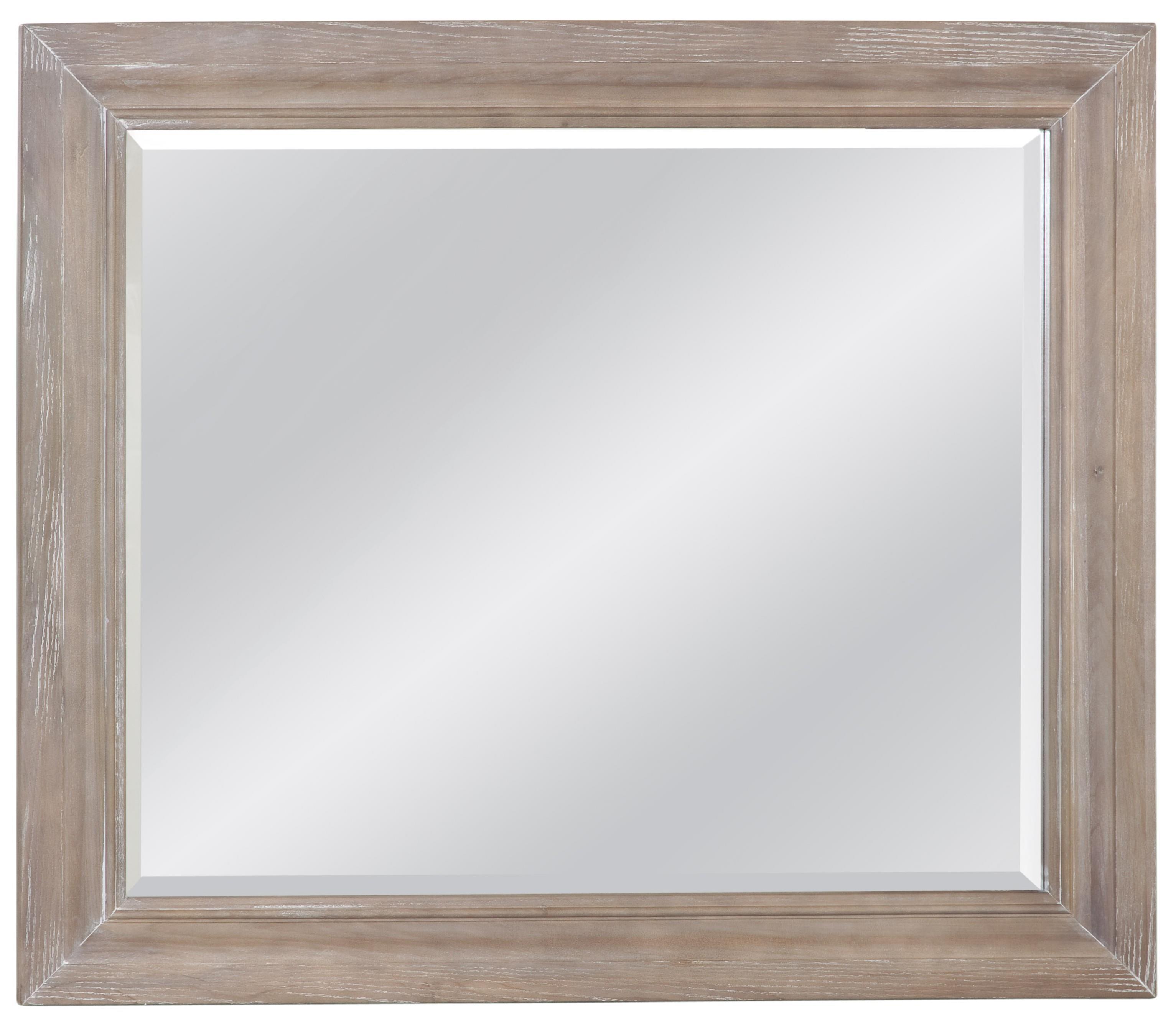 Vaughan Bassett Affinity Landscape Mirror - Beveled glass - Item Number: 564-446