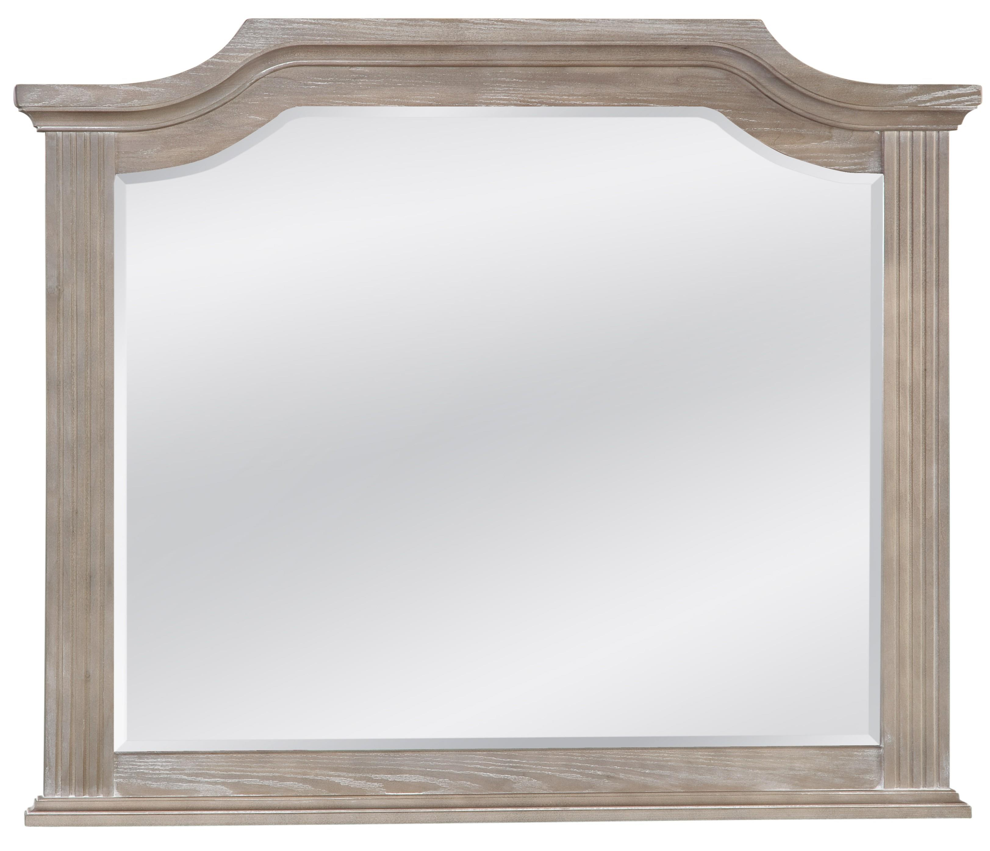 Vaughan Bassett Affinity Arch Mirror - Beveled glass - Item Number: 564-447