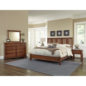 Vaughan Bassett American Cherry Queen Bedroom Group