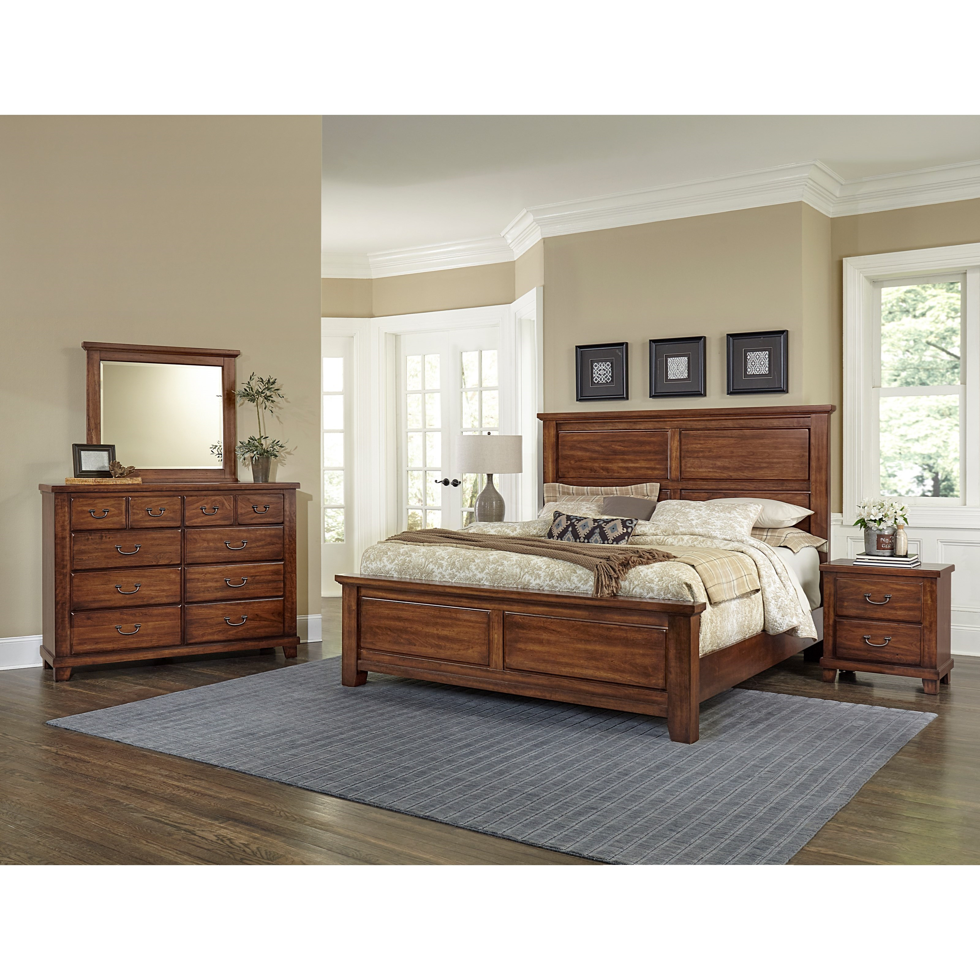 Vaughan Bassett American Cherry Queen Bedroom Group - Item Number: 415 Q Bedroom Group 3
