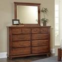 Vaughan Bassett American Cherry Bureau & Landscape Mirror - Item Number: 415-004+447