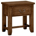 Vaughan Bassett American Cherry Night Table - 1 Drawer - Item Number: 415-226