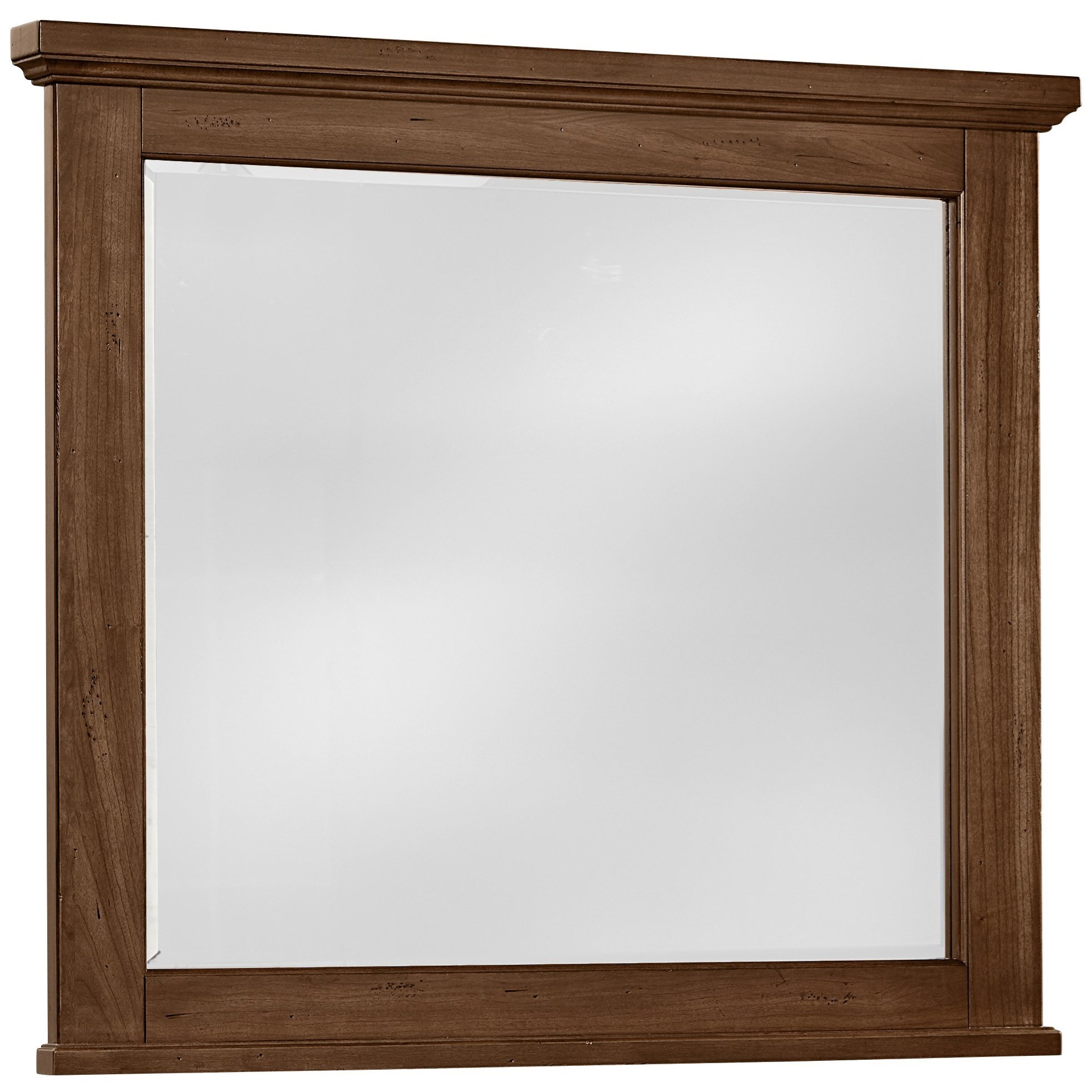 Vaughan Bassett American Cherry Landscape Mirror - Beveled Glass - Item Number: 415-447