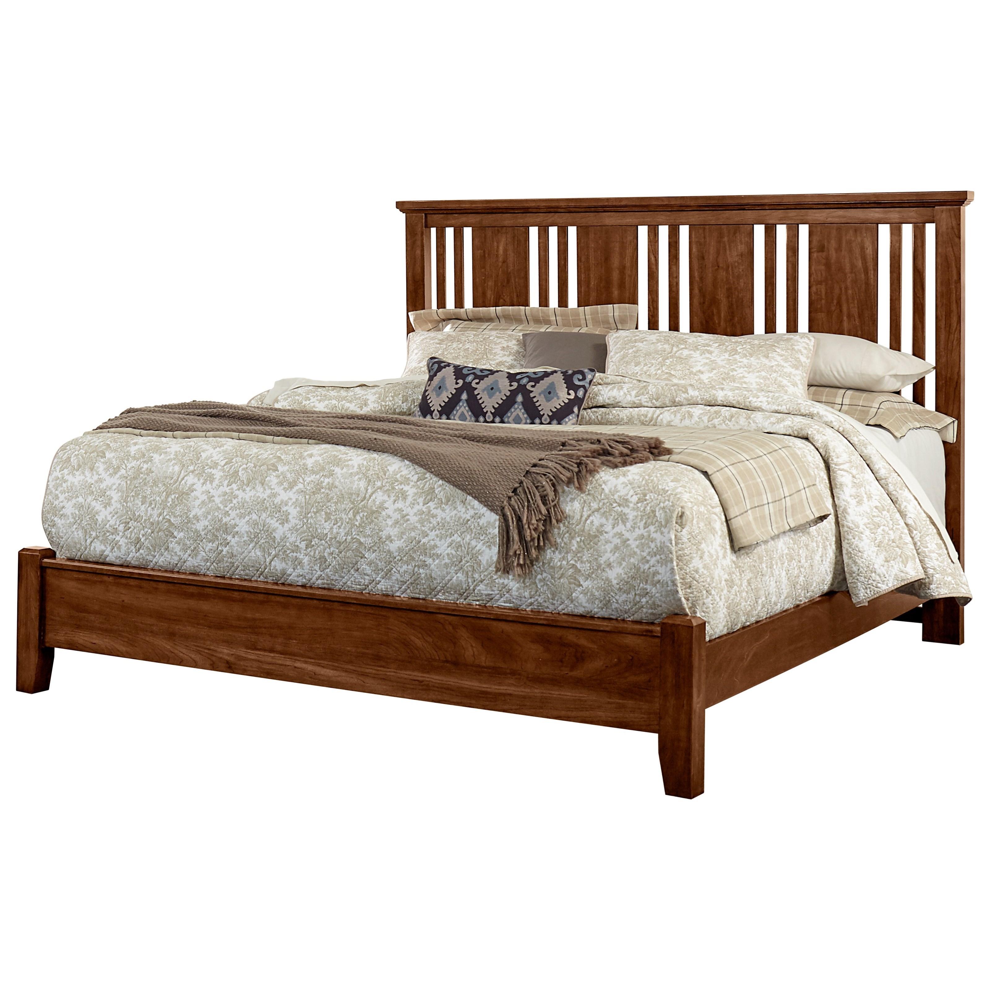 Vaughan Bassett American Cherry Queen Craftsman Bed - Item Number: 415-557+755+922