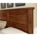 Vaughan Bassett American Cherry Solid Wood Cherry Queen Mansion Bed with Bench Footboard