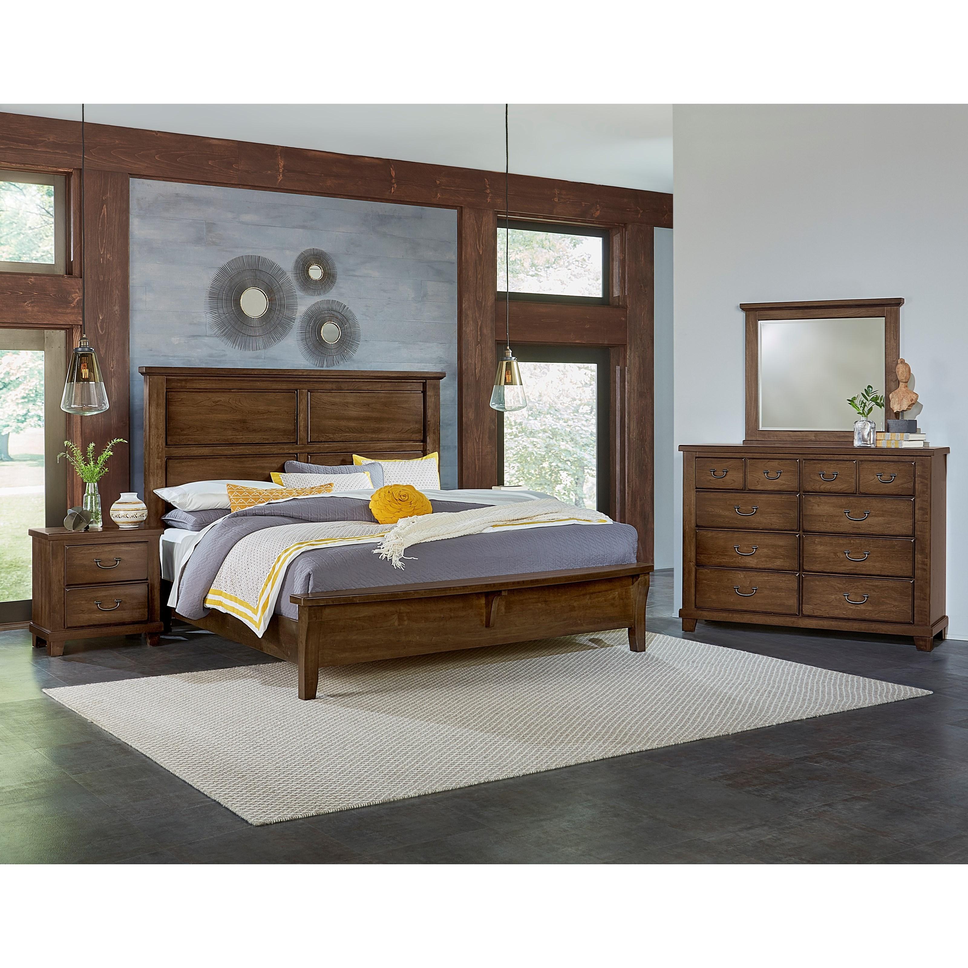 Vaughan Bassett American Cherry Queen Bedroom Group - Item Number: 417 Q Bedroom Group 4