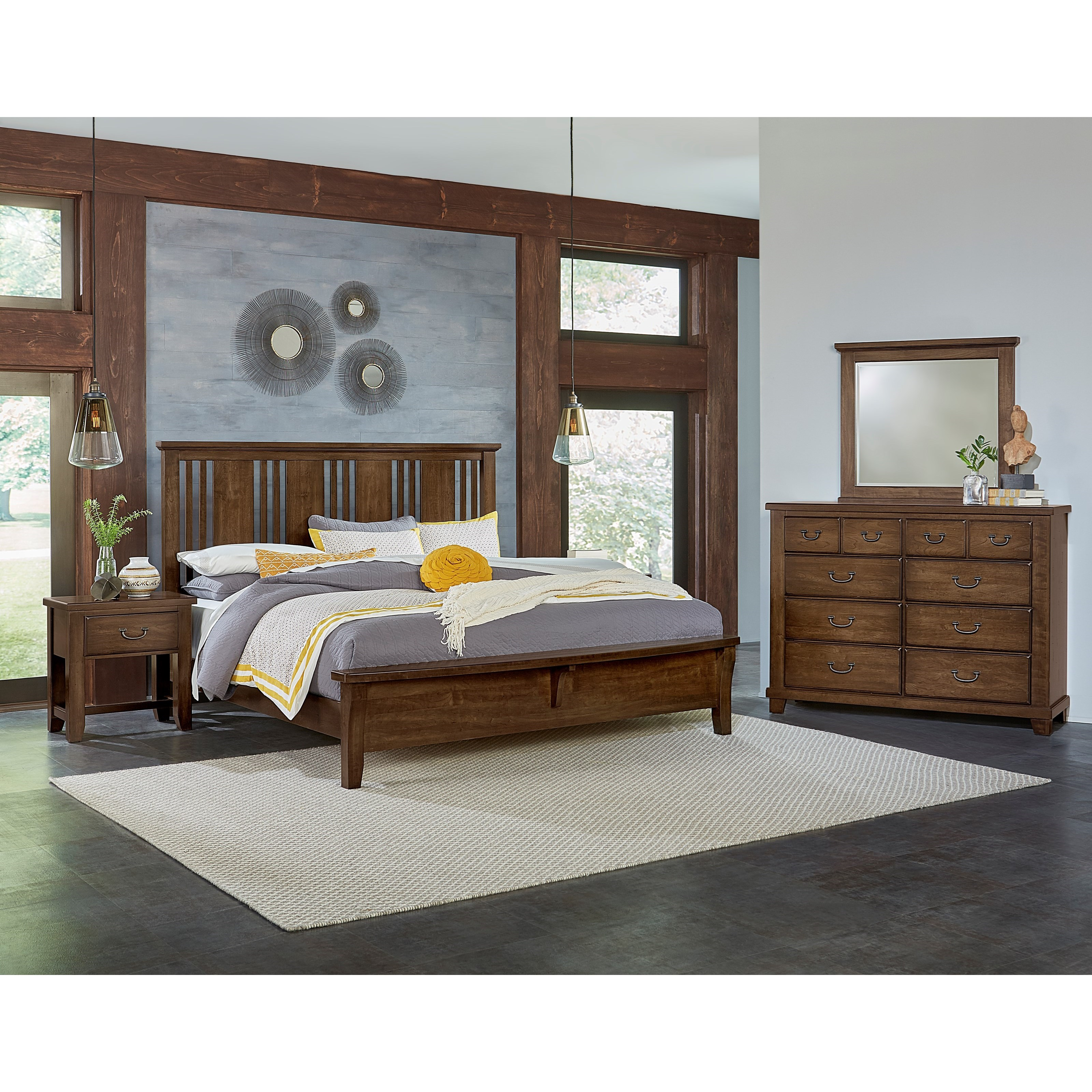 Vaughan Bassett American Cherry King Bedroom Group - Item Number: 417 K Bedroom Group 2