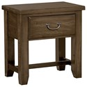 Vaughan Bassett American Cherry Night Table - 1 Drawer - Item Number: 417-226