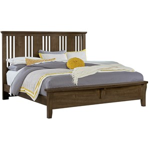 Queen Craftsman Bed w/ Bench Footboard