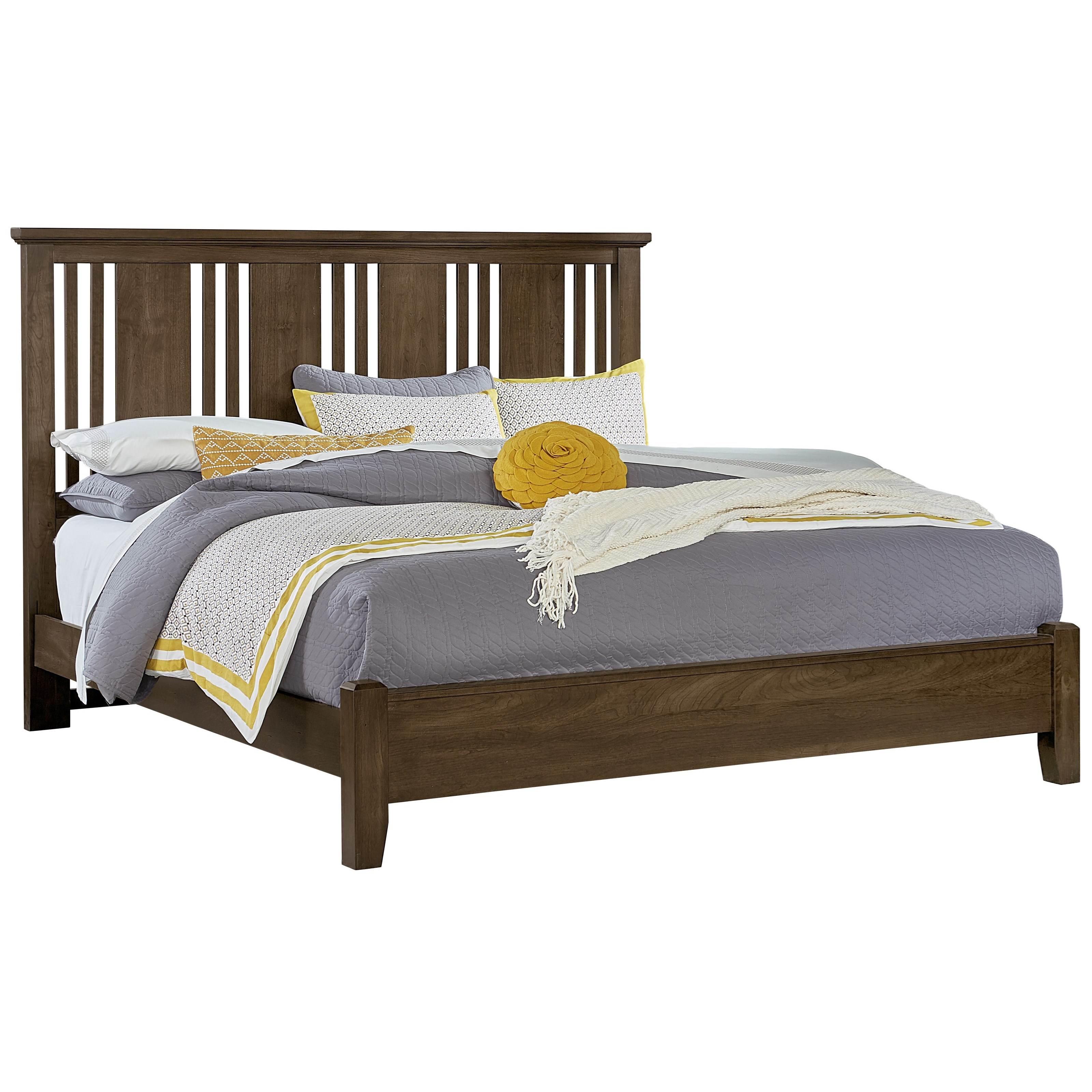 Vaughan Bassett American Cherry King Craftsman Bed - Item Number: 417-667+766+922+MS2