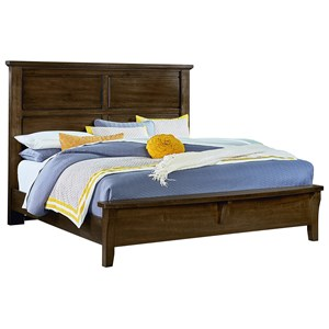 Vaughan Bassett American Cherry Queen Mansion Bed with Bench Footboard