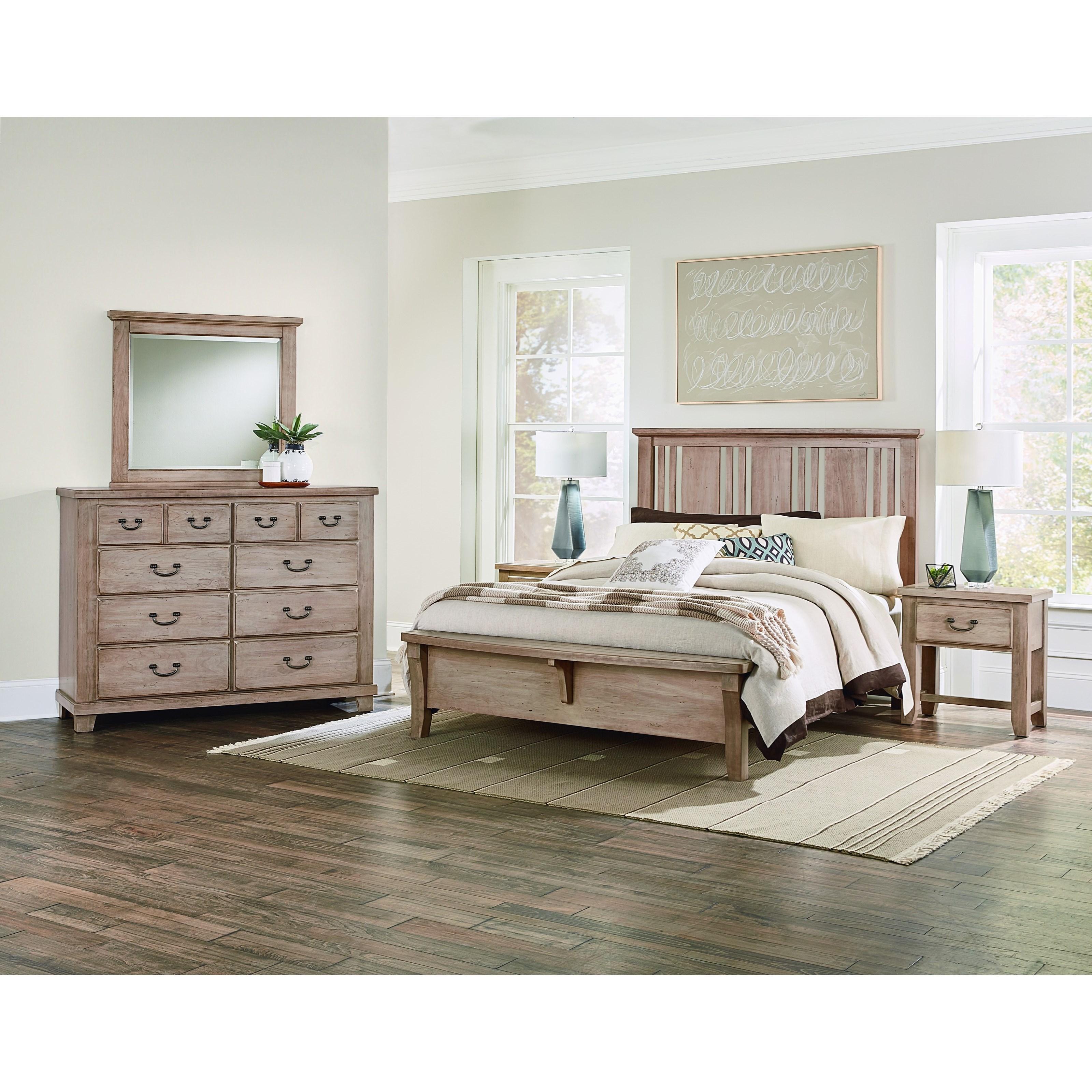 Vaughan Bassett American Cherry Queen Bedroom Group - Item Number: 418 Q Bedroom Group 2