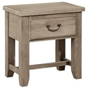 Vaughan Bassett American Cherry Night Table - 1 Drawer - Item Number: 418-226
