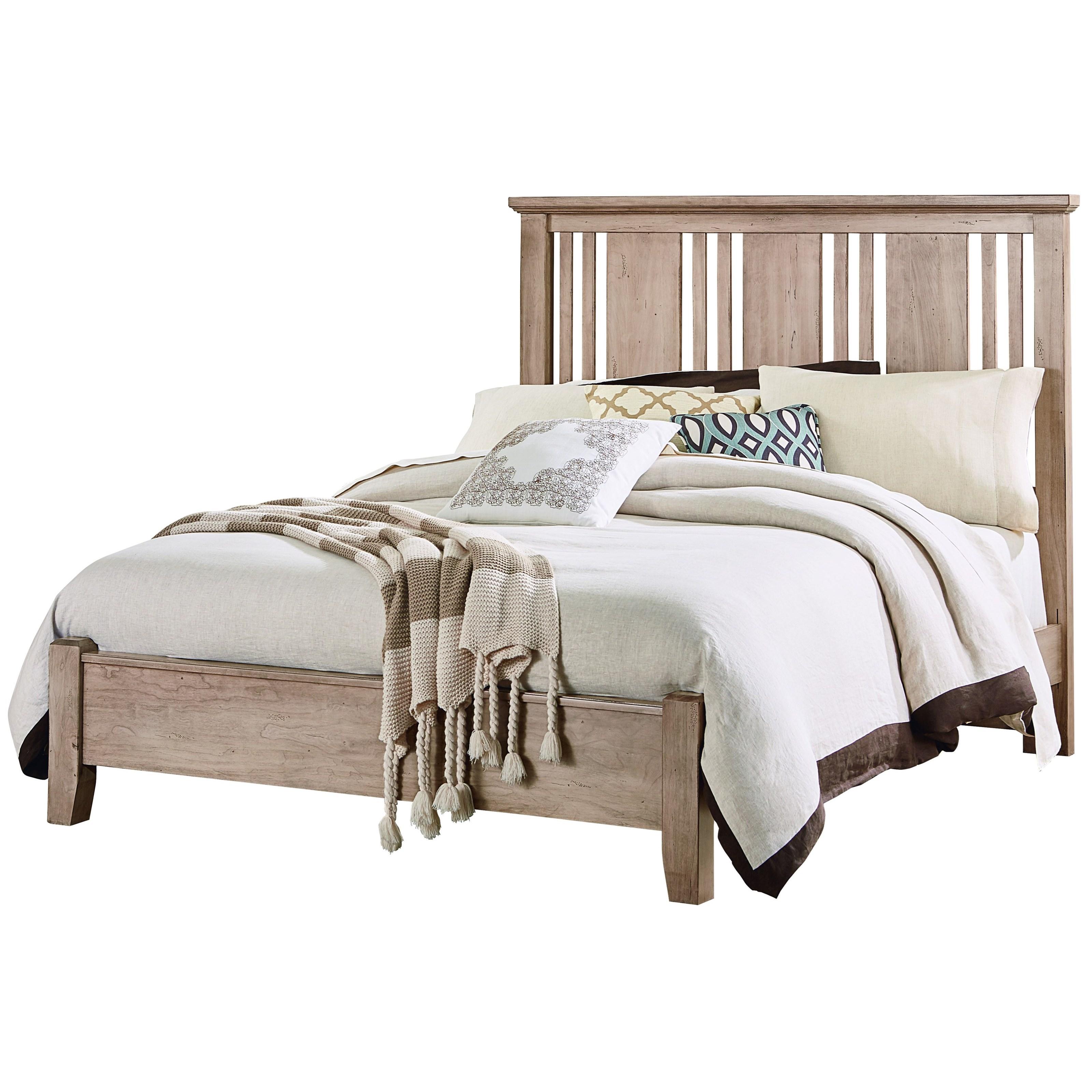 Vaughan Bassett American Cherry King Craftsman Bed - Item Number: 418-667+766+922+MS2