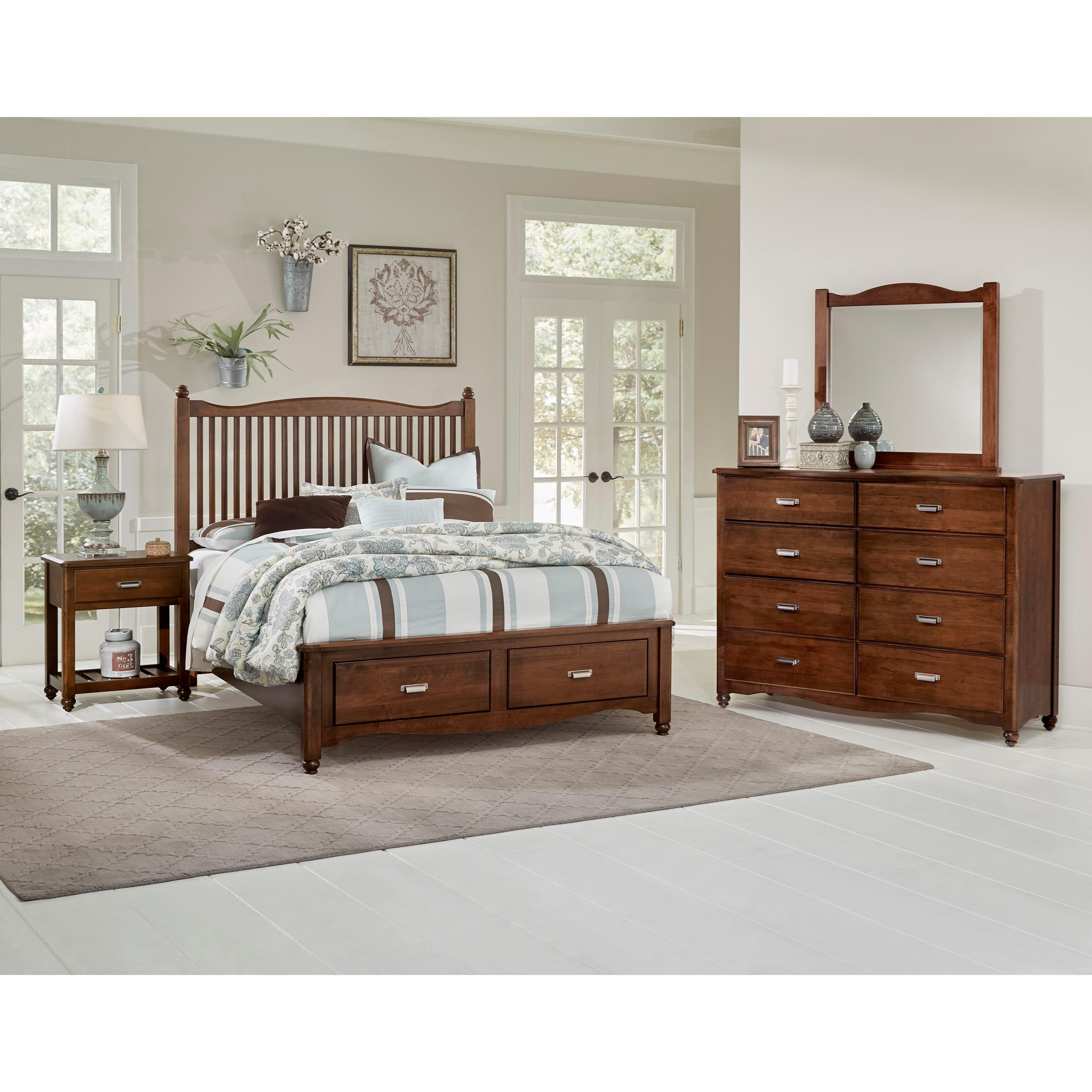 Vaughan Bassett American Maple King Bedroom Group - Item Number: 400 K Bedroom Group 3