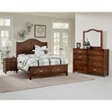 Vaughan Bassett American Maple King Bedroom Group - Item Number: 400 K Bedroom Group 4