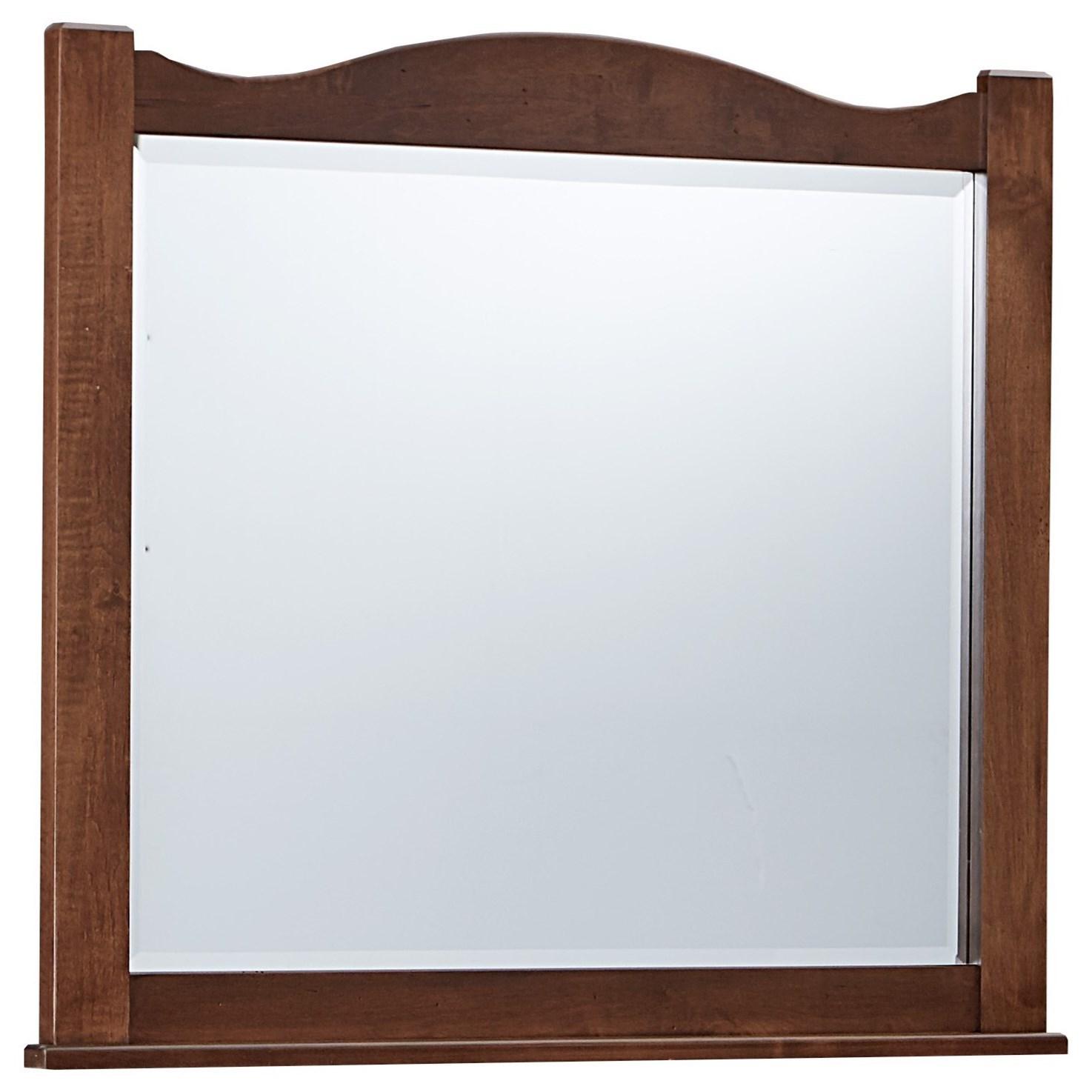 Vaughan Bassett American Maple Landscape Mirror - Beveled Glass - Item Number: 400-446