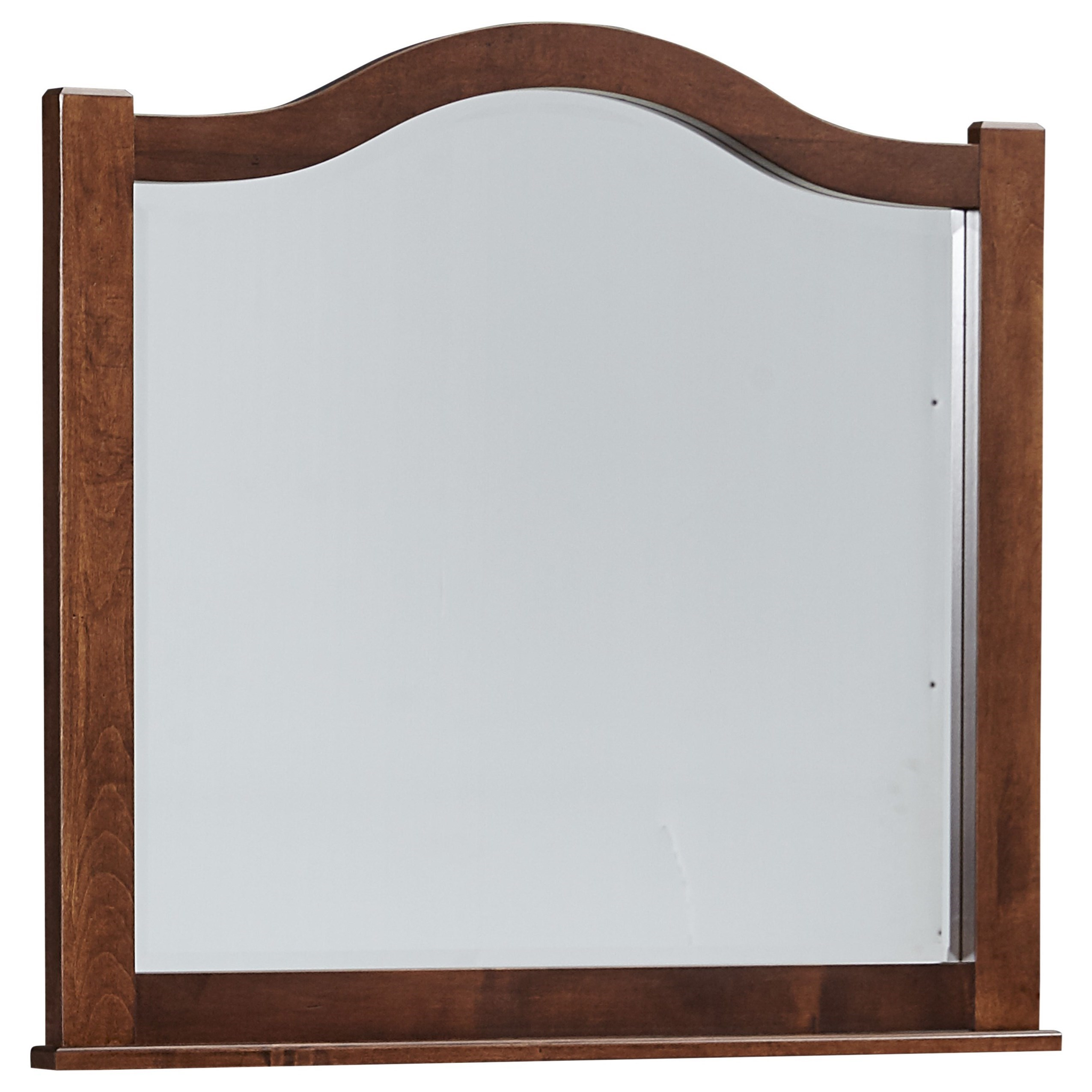 Vaughan Bassett American Maple Arched Mirror - Beveled Glass - Item Number: 400-447